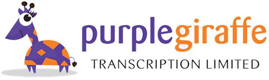 Purple Giraffe Transcription Logo