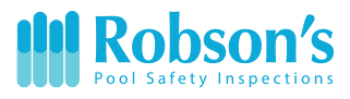 Robson's Pool Safety Inspections Logo