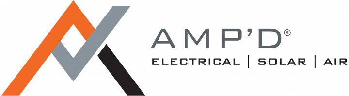 AMP'D Electrical & Solar Logo